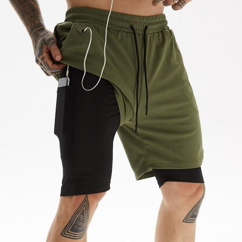 Image of Running Shorts Men Fitness Gym Training Sports Shorts
