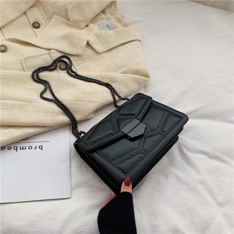 Image of Rivet Chain Small Crossbody Bags For Women