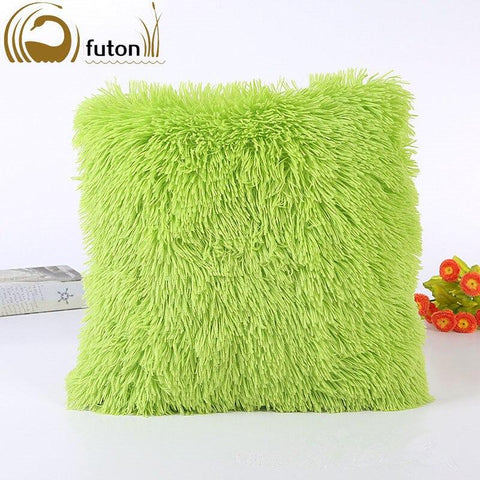 Image of Soft Fur Home Bed Pillowcase