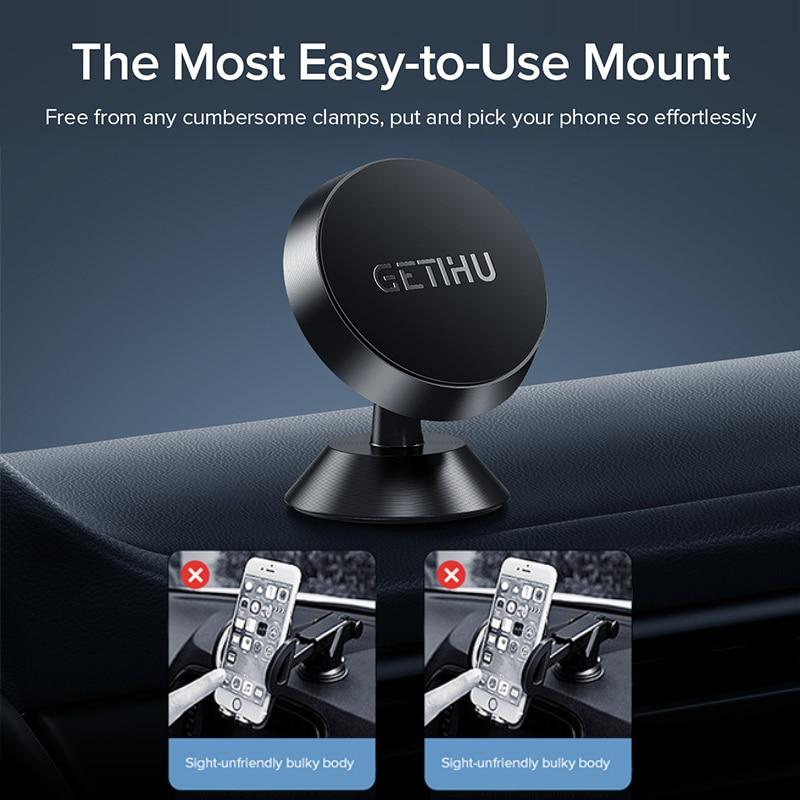 GETIHU Universal Magnetic Car Phone Holder Mobile