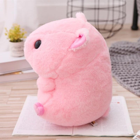 Image of Cute Round Pig Plush Toy