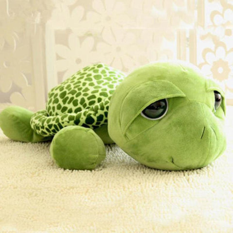 Image of Funny Big Eyes Green Turtle Plush Toy
