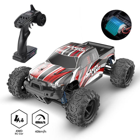 Image of DEERC RC Car High Speed Remote Control Car for Kids Adults 1:18 Scale 30+ MPH 4WD Off Road Trucks 40+ Min Play Gifts for Kids