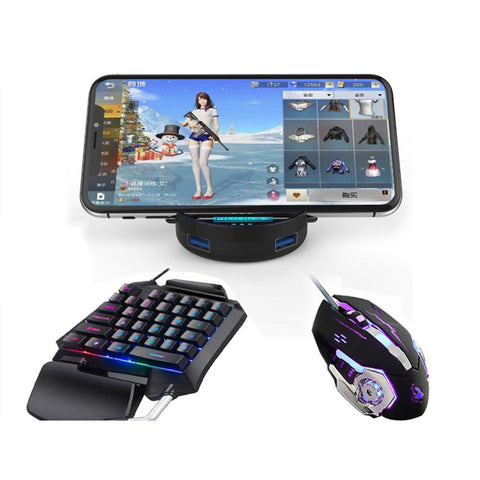 Single Hand 3-in-1 Gaming Keyboard Set Phones Gaming Keyboard And Mouse One Handed Gaming Keyboard And Mouse Combo