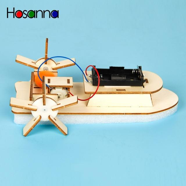 Kid's Wooden DIY Electric Motor Boat