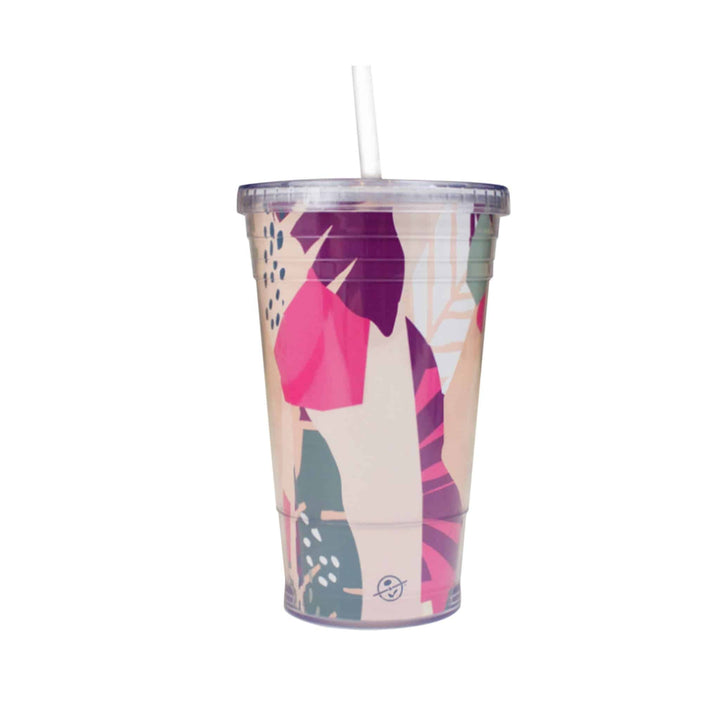 Acrylic Leaves Tumbler with Straw 16oz from The Coffee Bean & Tea Leaf