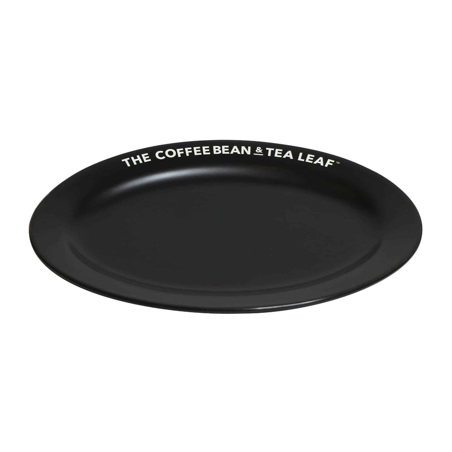 Matte Black Oval Ceramic Plate by the Coffee Bean & tea Leaf