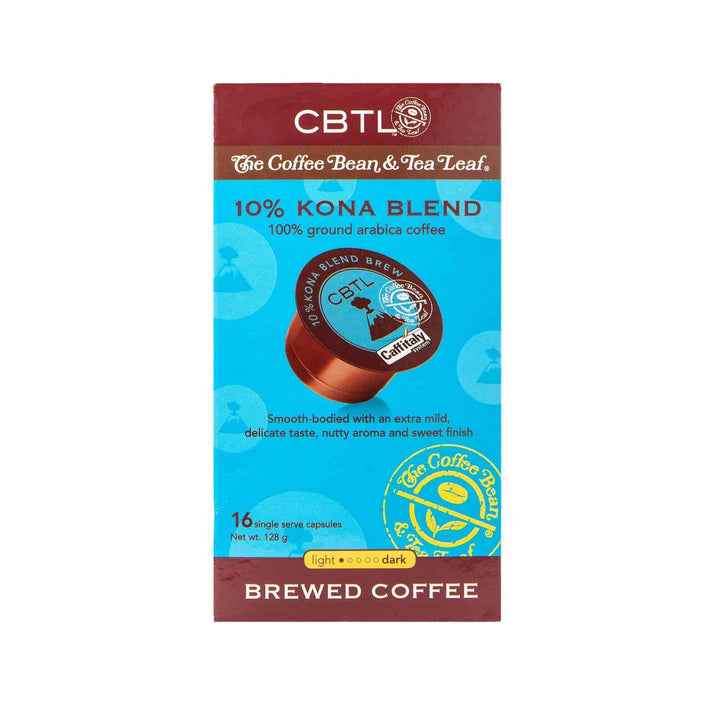CBTL 10% Kona Blend Coffee Capsules Single Serve Pods from The Coffee Bean & Tea Leaf 16ct box
