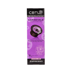 CBTL Carnevale Espresso Capsules Single Serve Pods from The Coffee Bean & Tea Leaf 10ct box