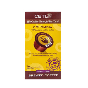 CBTL Colombia Coffee Capsules Single Serve Pods from The Coffee Bean & Tea Leaf 16ct box