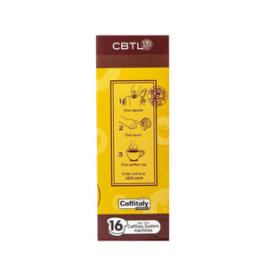 CBTL Colombia Coffee Capsules Single Serve Pods from The Coffee Bean & Tea Leaf 16ct box - Side 2
