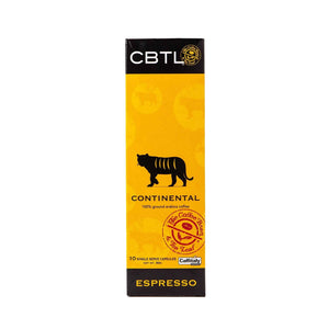 CBTL Continental Espresso Capsules Single Serve Pod from The Coffee Bean & Tea Leaf 10ct box