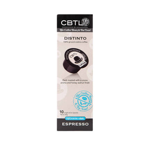 CBTL Distinto Espresso Capsules Single Serve Pods from The Coffee Bean & Tea Leaf 10ct box