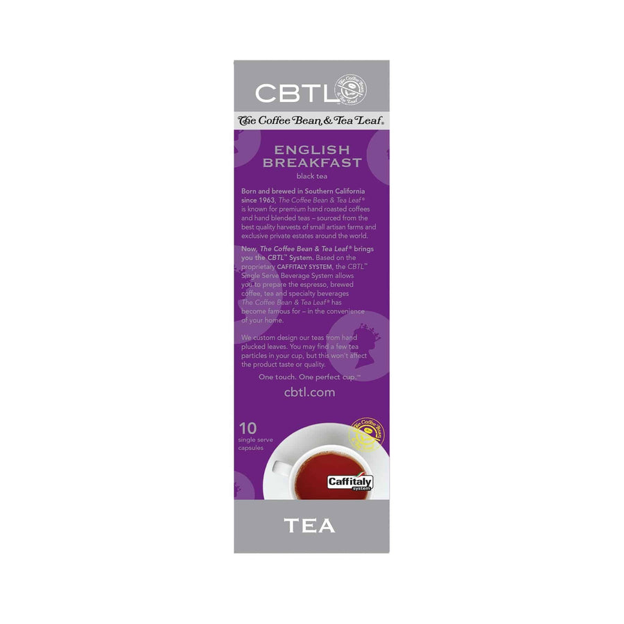 CBTL English Breakfast Tea single serve Capsules 10ct by The Coffee Bean & Tea Leaf 10ct - Back