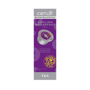 CBTL English Breakfast Tea single serve Capsules 10ct by The Coffee Bean & Tea Leaf 10ct