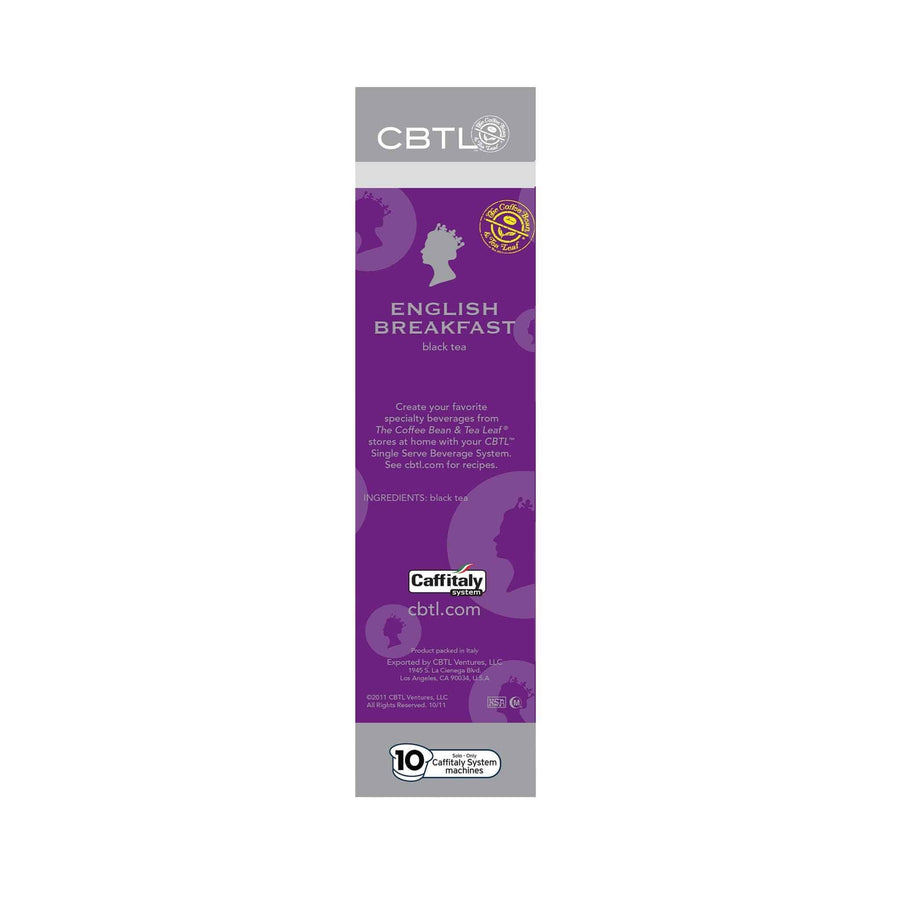 CBTL English Breakfast Tea single serve Capsules 10ct by The Coffee Bean & Tea Leaf 10ct - Side 2