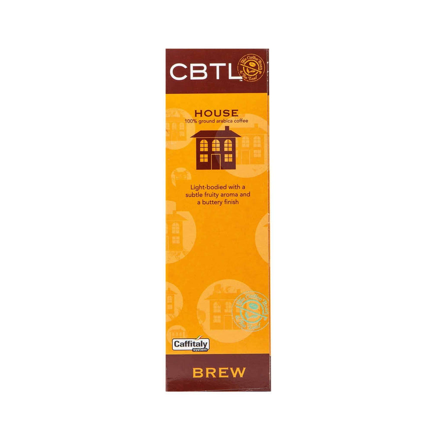 CBTL House Coffee Capsules Single Serve Pods from The Coffee Bean & Tea Leaf 10ct Box - Back
