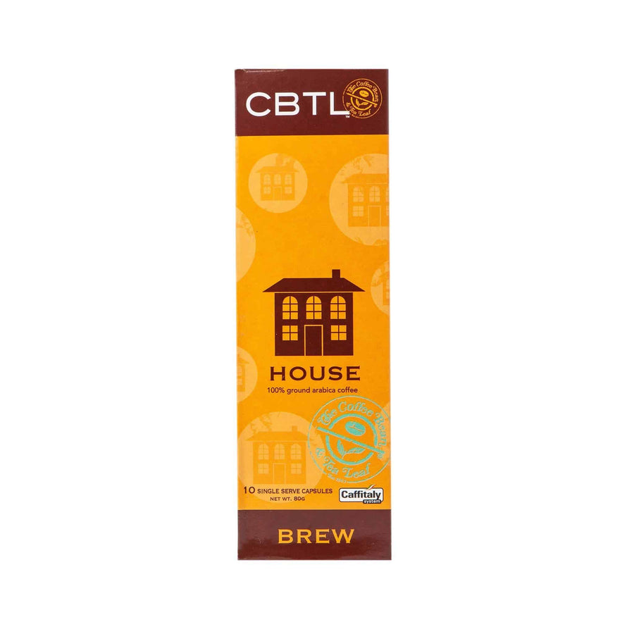 CBTL House Coffee Capsules Single Serve Pods from The Coffee Bean & Tea Leaf 10ct Box