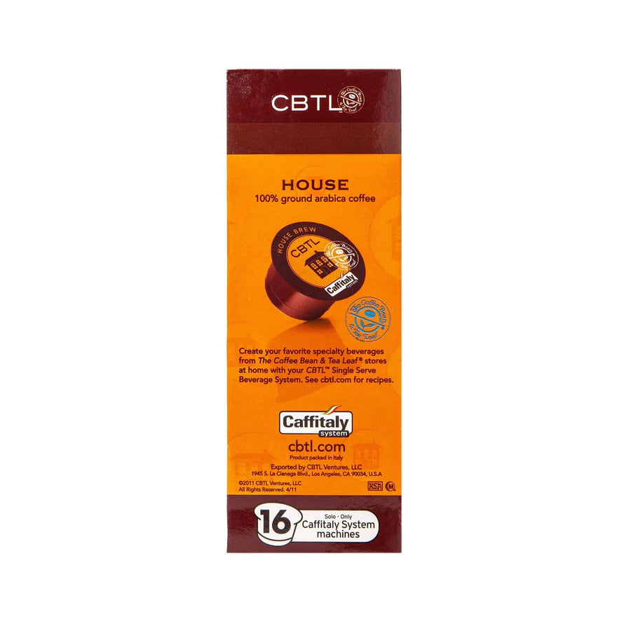 CBTL House Coffee Capsules Single Serve Pods from The Coffee Bean & Tea Leaf 16ct Box - Side 1