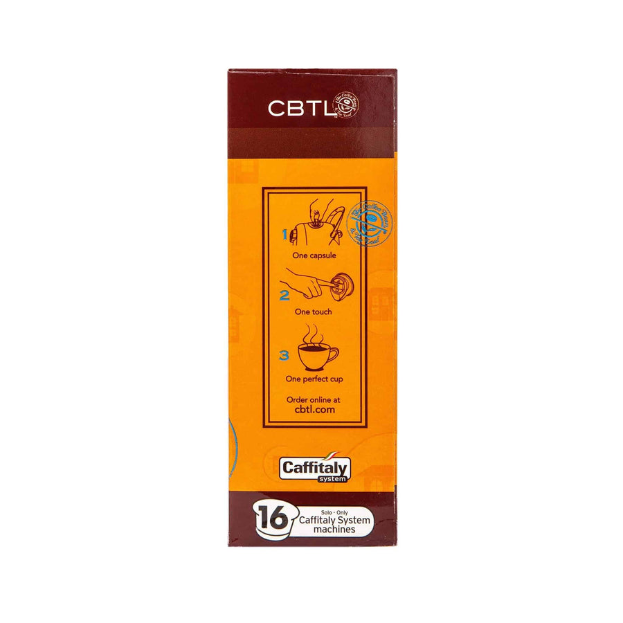 CBTL House Coffee Capsules Single Serve Pods from The Coffee Bean & Tea Leaf 16ct Box - Side 2