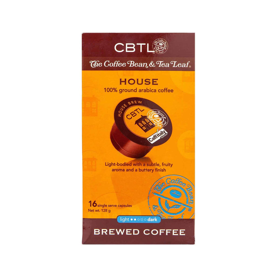 CBTL House Coffee Capsules Single Serve Pods from The Coffee Bean & Tea Leaf 16ct Box