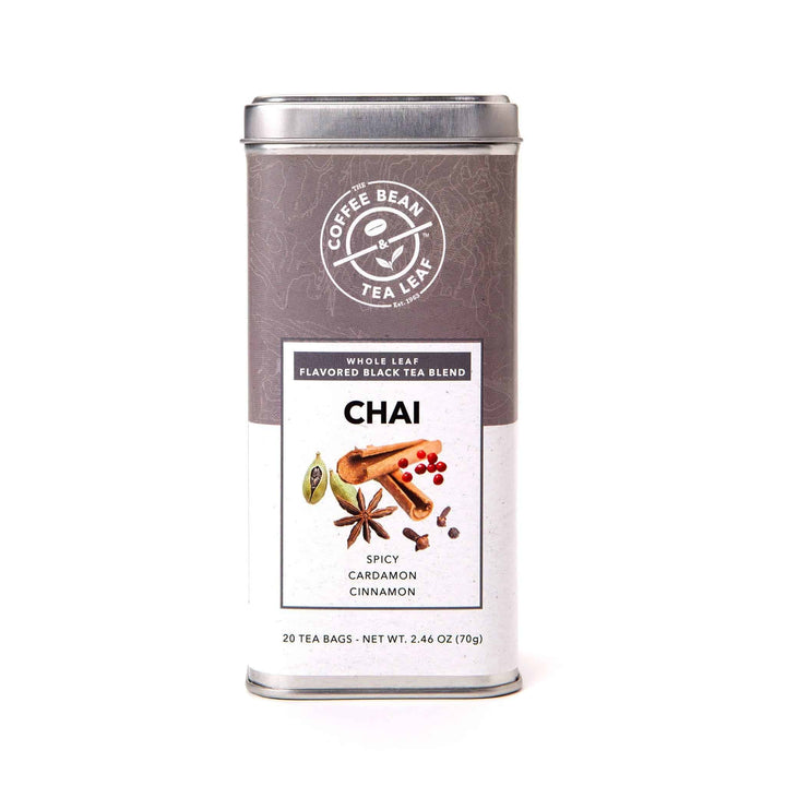 Chai Black Tea Bags whole leaf from The Coffee Bean & Tea Leaf 20ct