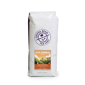 Colombia Narino Medium Roast Ground Coffee 1lb bag whole beans by The Coffee Bean & Tea Leaf