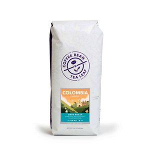 Colombia Narino Dark Roast Coffee Whole Beans from The Coffee Bean & Tea Leaf 1lb bag