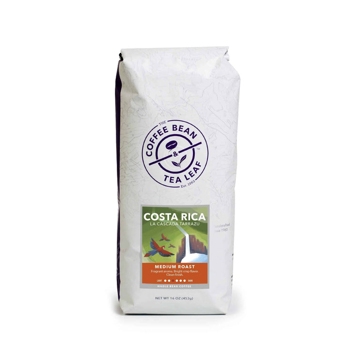 Costa Rica La Cascada Tarrazu Medium Roast Coffee whole bean 1lb bag by The Coffee Bean & Tea Leaf