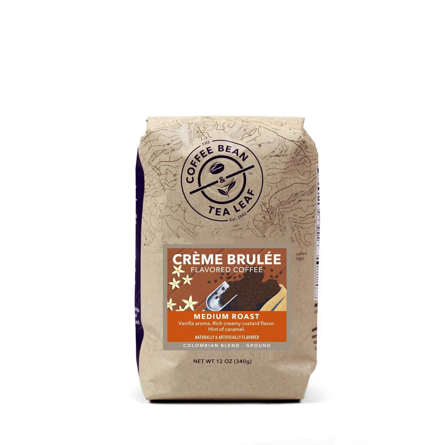 Creme Brulee Flavored Medium Roast Colombian Blend Ground Coffee 12oz Bags by The Coffee Bean & Lea Leaf
