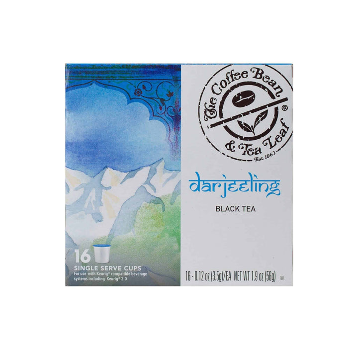 Darjeeling Black Tea Kcups Single Serve Pods from The Coffee Bean & tea Leaf 16ct box