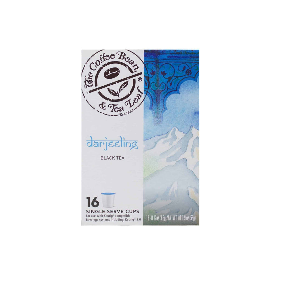 Darjeeling Black Tea Kcups Single Serve Pods from The Coffee Bean & tea Leaf 16ct box - Side 1