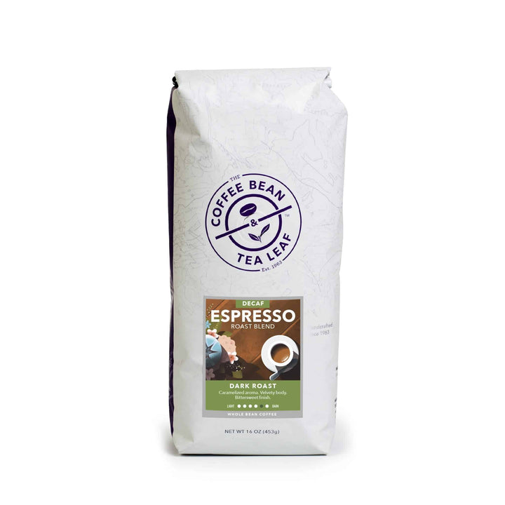 Espresso Dark Roast Blend Coffee 12oz bag ground from The Coffee Bean & Tea Leaf