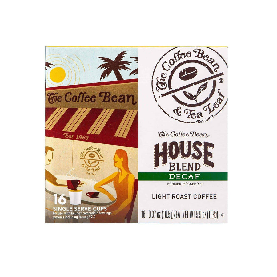 Decaf House Blend Coffee Kcups Single Serve Pods from The Coffee Bean & Tea Leaf 16ct box