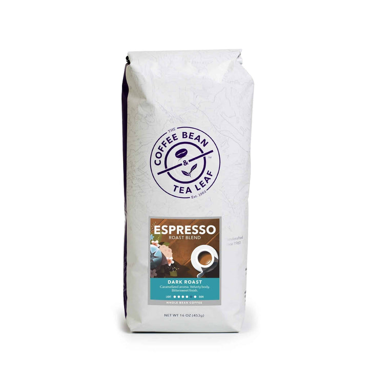 Espresso Dark Roast Coffee 1lb bag ground from The Coffee Bean & Tea Leaf