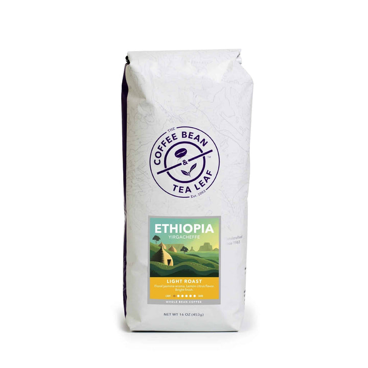 Ethiopia Yirgacheffe Light Roast Coffee whole bean 1lb bag by The Coffee Bean & Tea Leaf