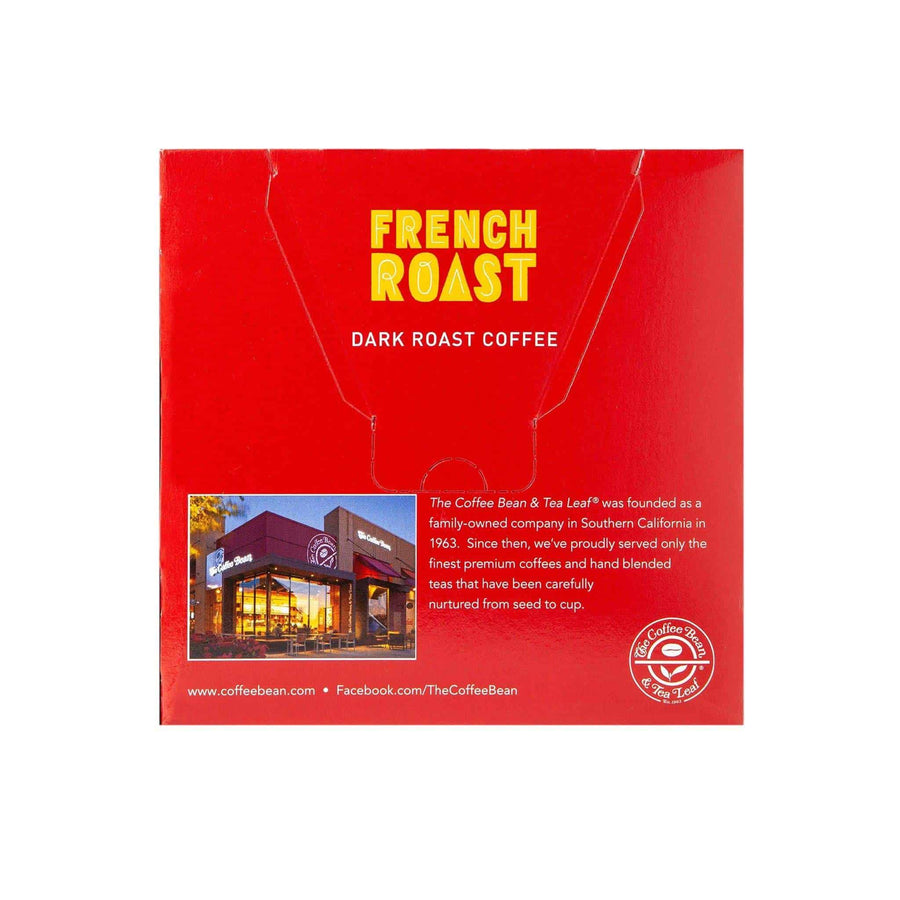 French Dark Roast Coffee Kcups Single Serve Pods from The Coffee Bean & Tea Leaf 16ct box - Back