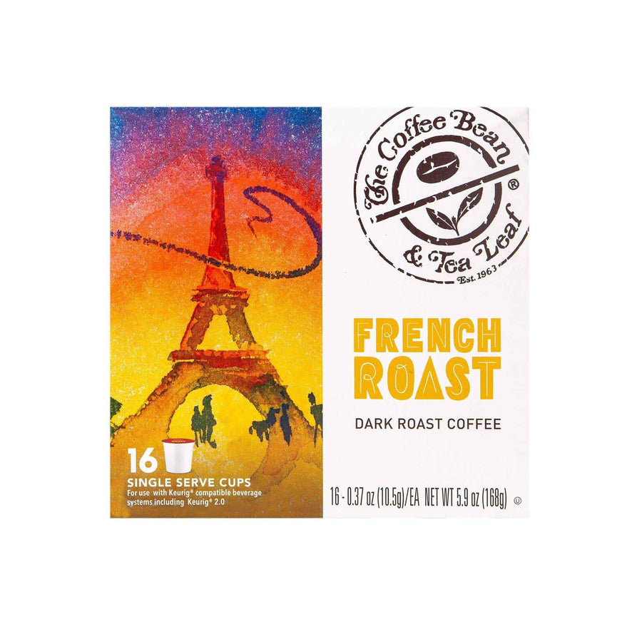 French Dark Roast Coffee Kcups Single Serve Pods from The Coffee Bean & Tea Leaf 16ct box
