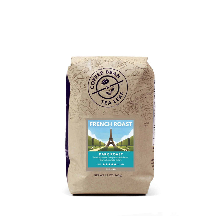 French Dark Roast Coffee 12oz bag ground by The Coffee Bean & tea Leaf