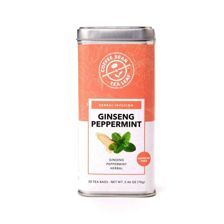 Ginseng Peppermint Herbal Tea Bag from The Coffee Bean & Tea Leaf 20ct