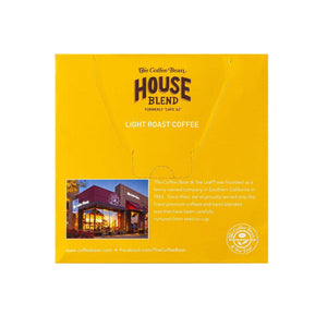 House Blend Coffee Kcups Single Serve Pods from The Coffee Bean & Tea Leaf 16ct box- Back
