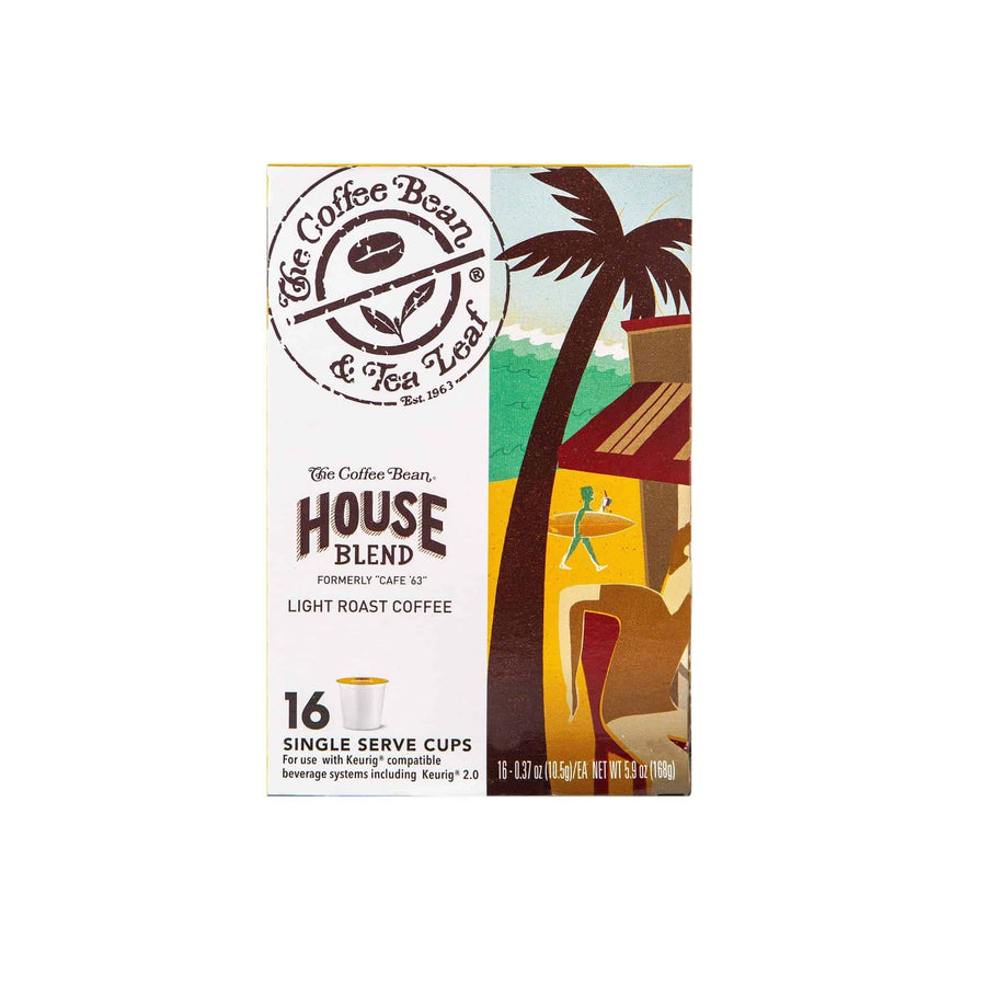 House Blend Coffee Kcups Single Serve Pods from The Coffee Bean & Tea Leaf 16ct box - Side 1