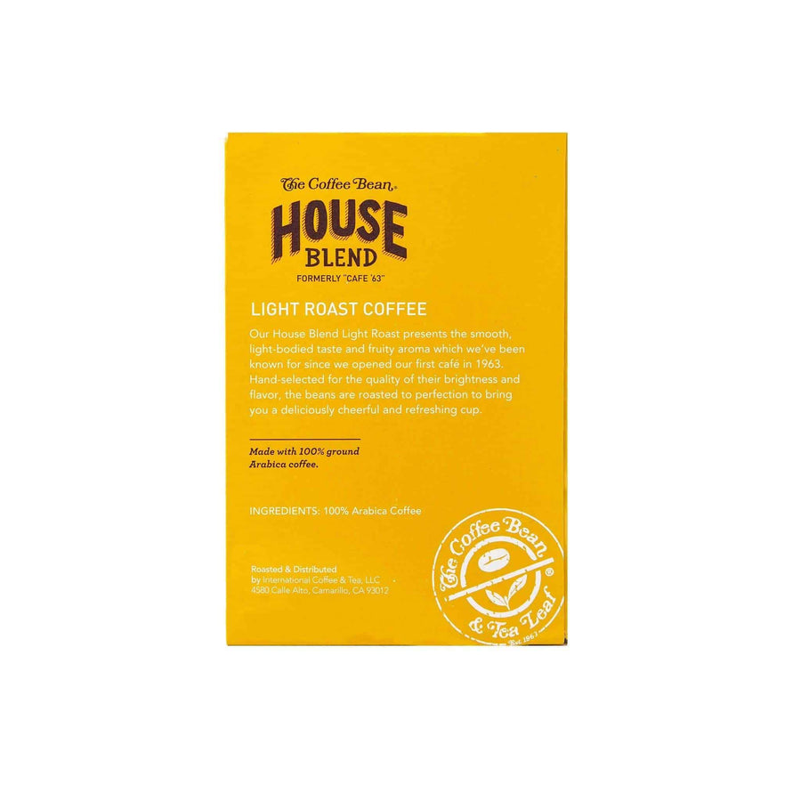 House Blend Coffee Kcups Single Serve Pods from The Coffee Bean & Tea Leaf 16ct box - Side 2