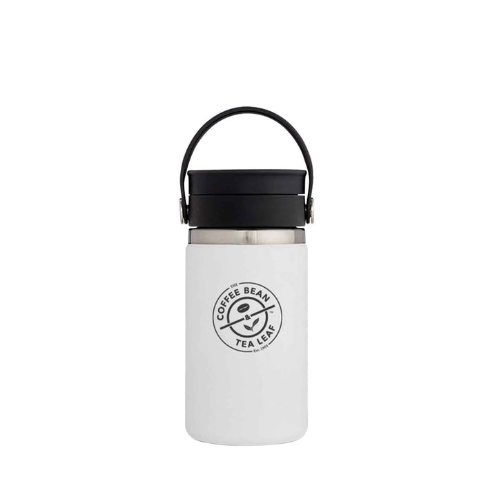 Hydro Flask 12oz White with Flex Sip from The Coffee Bean & Tea Leaf