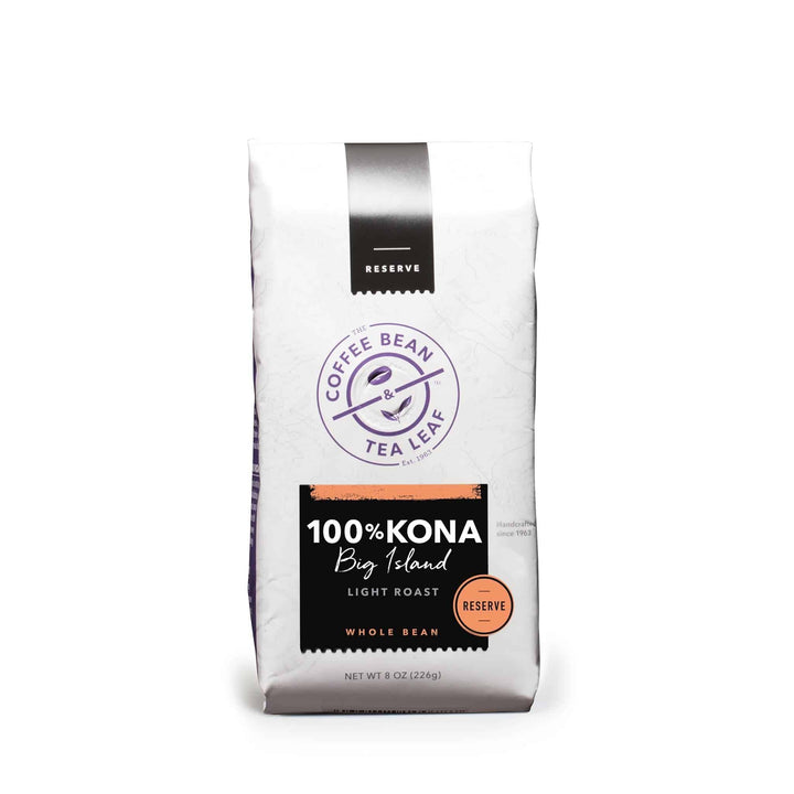 Kona Coffee Beans 100% Light Roast 8oz bag by The Coffee Bean & Tea Leaf
