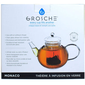 Grosche Monaco Glass Teapot with Removable Infuser 42oz from The Coffee Bean & Tea Leaf 2