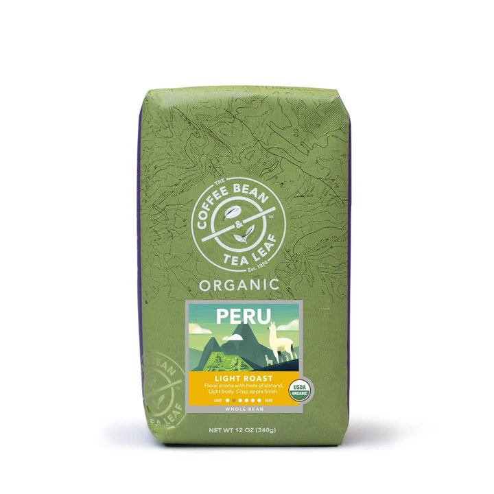Organic Peru Whole Bean Coffee 12oz bag by The Coffee Bean & Tea Leaf