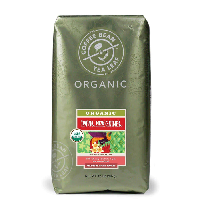 Organic Papua New Guinea Medium Roast Coffee Whole Beans 2lb Bag by The Coffee Bean & Tea Leaf