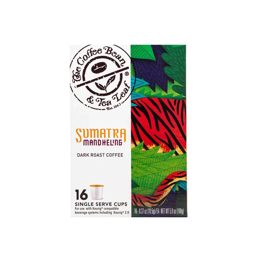 Sumatra Mandehling Dark Roast Coffee Kcups Single Serve Pods from The Coffee Bean & Tea Leaf 16ct box - Side 2