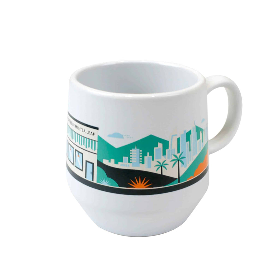 Verona White Mug 16oz from The Coffee Bean & Tea Leaf - Back